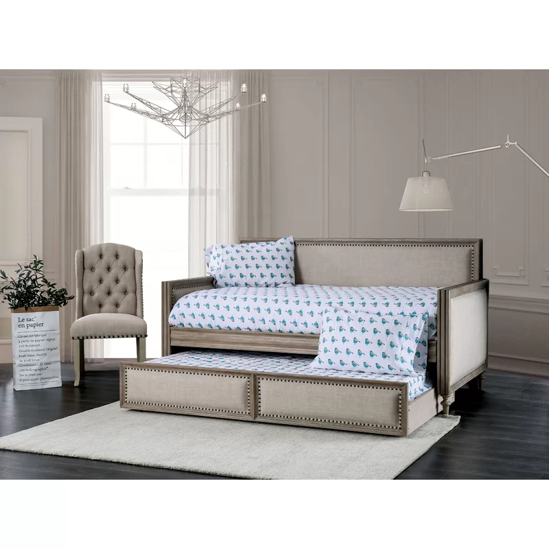 Kannon Upholstered Twin XL Daybed with Trundle Daybed