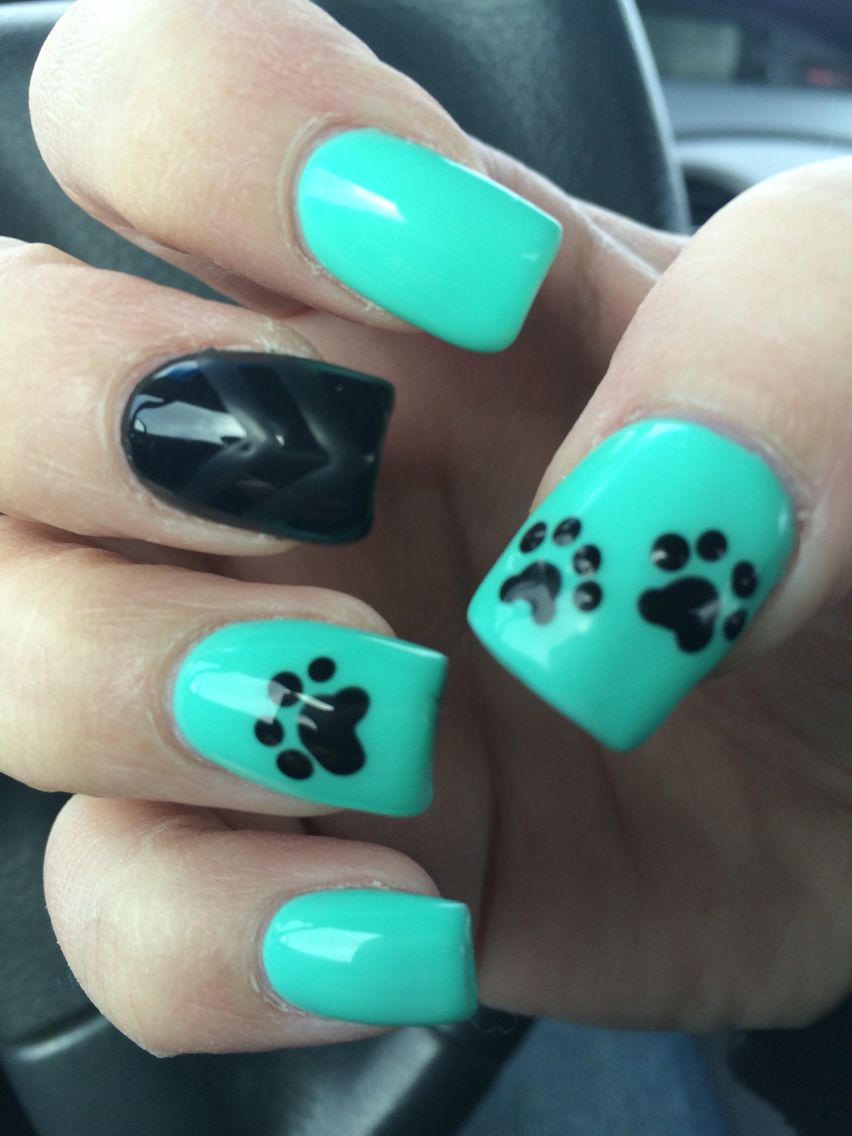 Paw Print Nails Nails Pinterest Paw Print Nails Printing And
