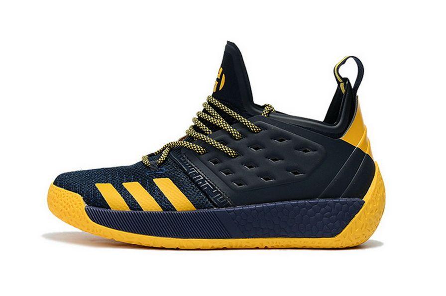premium selection 8a9e7 0c025 ... Adidas Harden Vol 2 Navy Blue Yellow Nike Sneakers Vintage Shoe ...