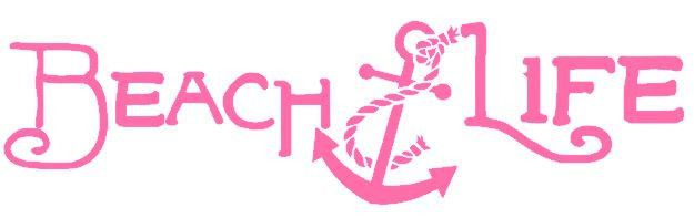 Beach life car or truck decal approx 3 inches x 11 inches gulf shores anchor