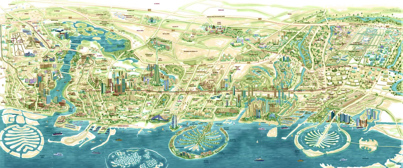 3d map dubai