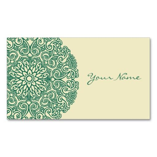 green mandala business card