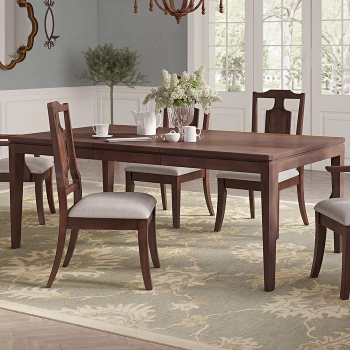 Darby Home Co Bales Extendable Solid Wood Dining Table Wayfair Ca Solid Wood Dining Table Wood Dining Table Dining Table In Kitchen