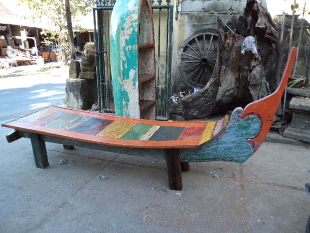 Reclaimed Boat Wood Bench Bali Sourced Boat Furniture Wood Bench Wood