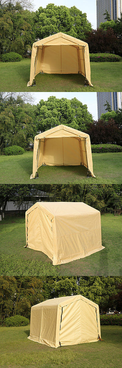 Awnings and Canopies 180992 10X10x8ft Auto Storage Logic Shelter Car Garage Steel Carport Canopy Tent & Awnings and Canopies 180992: 10X10x8ft Auto Storage Logic Shelter ...