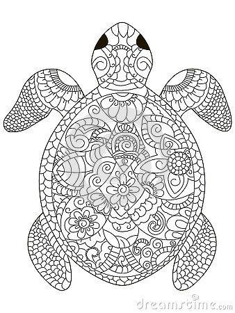 Image result for turtle colouring pages for adults