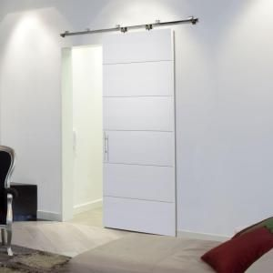 Masonite 36 In. X 84 In. Melrose Primed Solid Core Interior Barn Door Slab  82635 At The Home Depot   Mobile