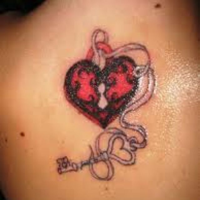 Lock n key heart tattoos