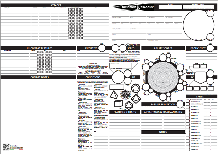 graphic relating to Pathfinder Character Sheet Printable named 5 pleasurable choice persona sheets for 5th model