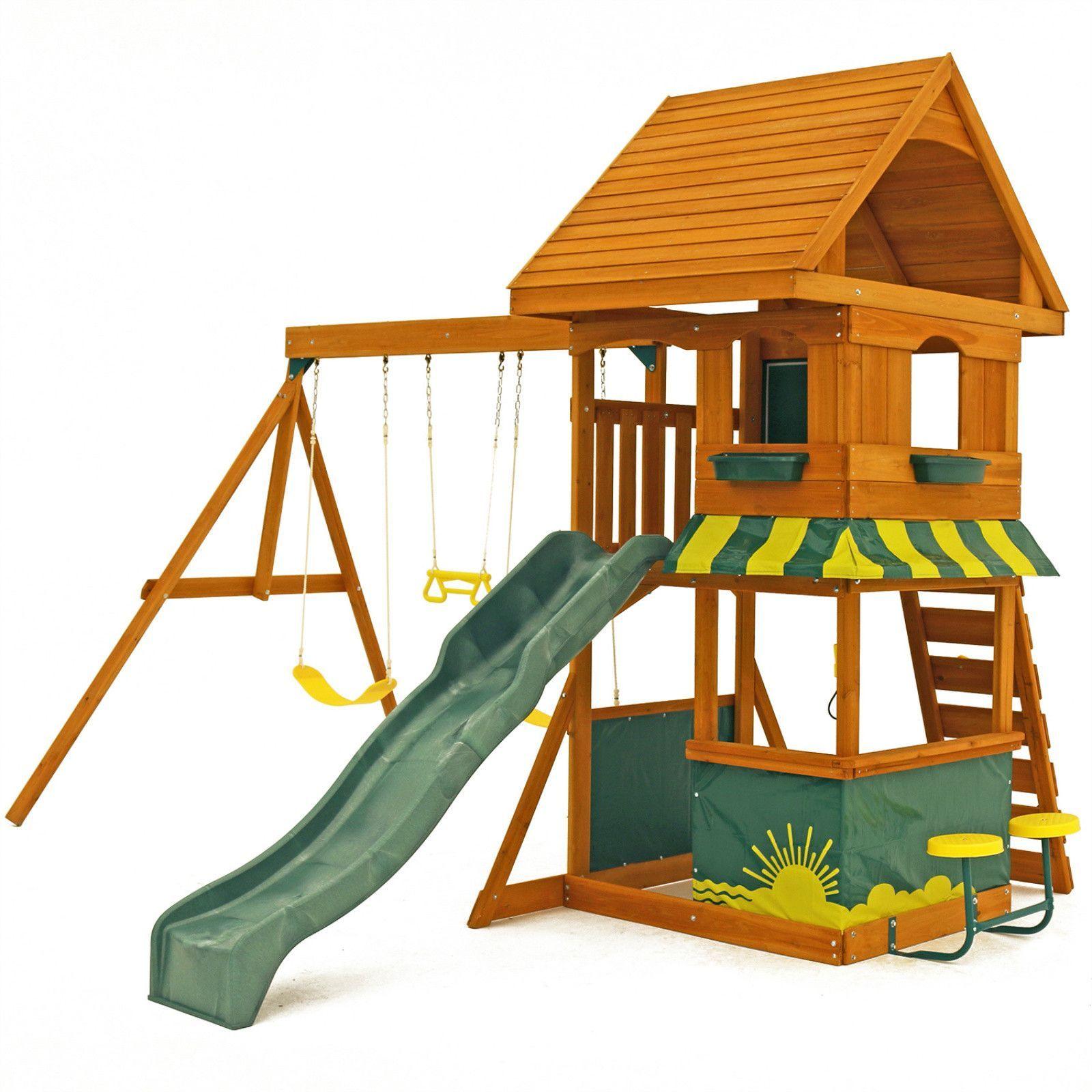 Swing Sets For Backyard Play Houses Build A Playhouse Backyard