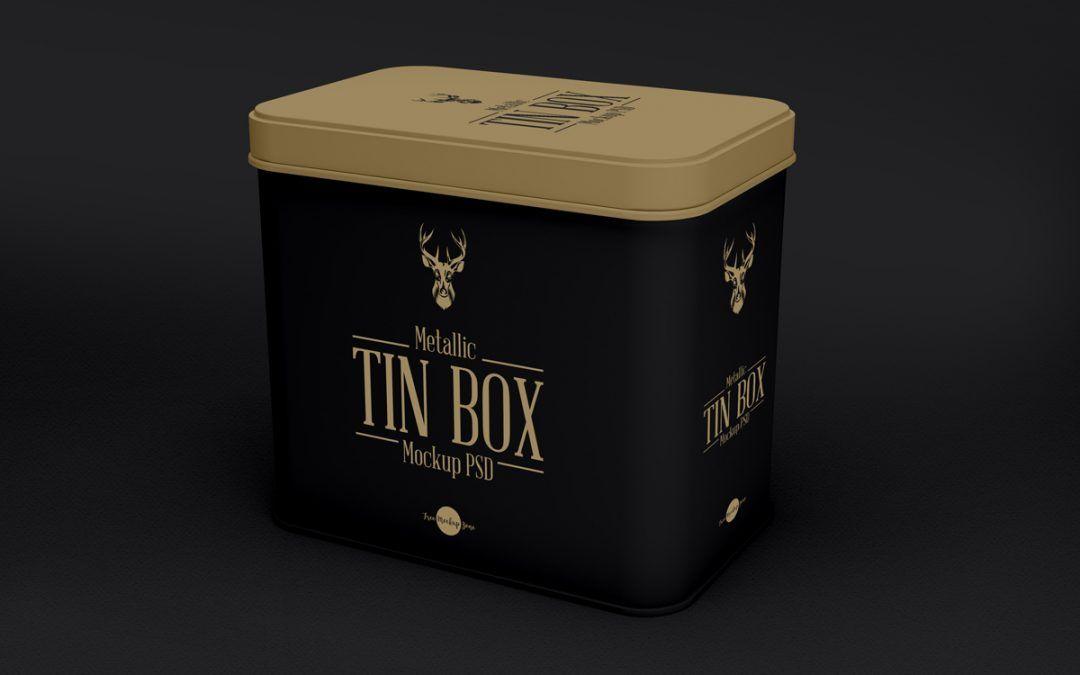 Download Metallic Tin Box Mockup Psd Template Box Mockup Free Mockup Mockup Psd