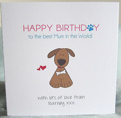 Personalised handmade happy birthday card mum dad any from dog personalised handmade happy birthday card mum dad any from dog cat bookmarktalkfo Images