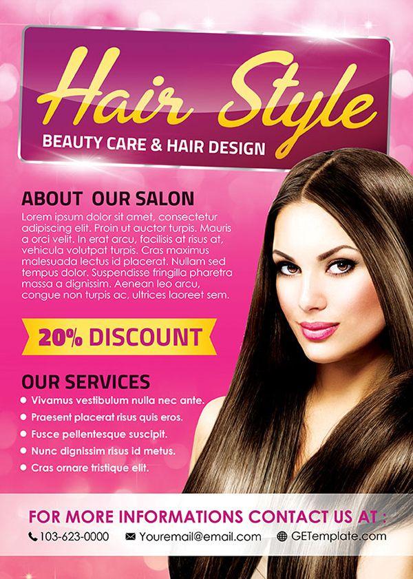hair style premium psd flyer