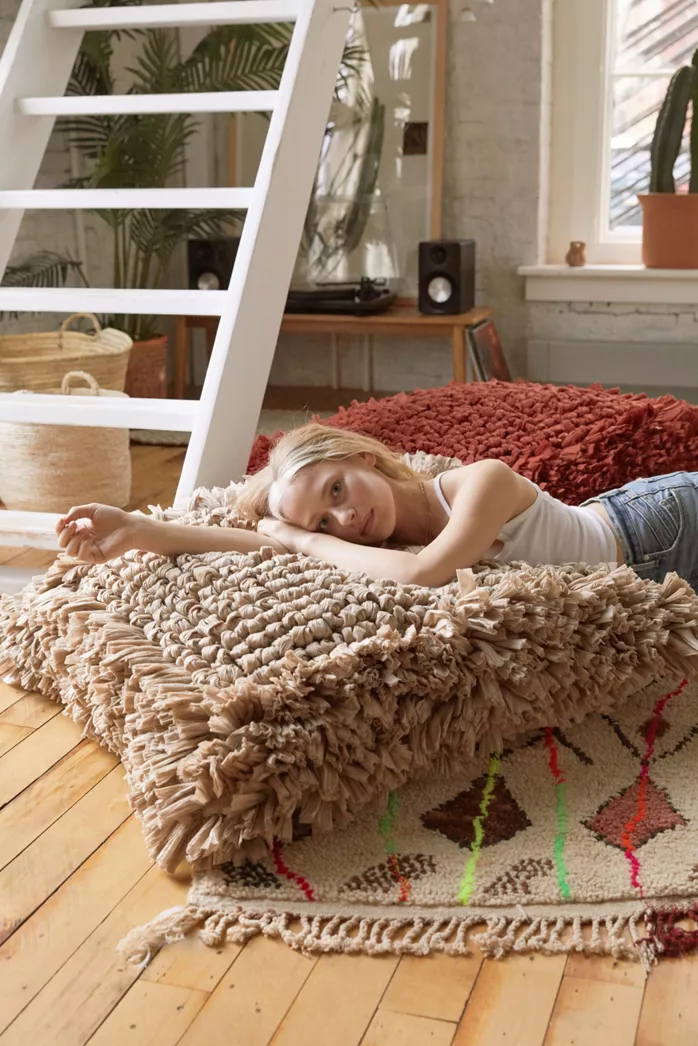 Cooper Faux Sheepskin Lounge Chair In 2020 Floor Cushions