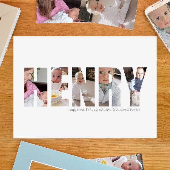 Personalised BOY Photograph Print perfect for by imagINephotowords