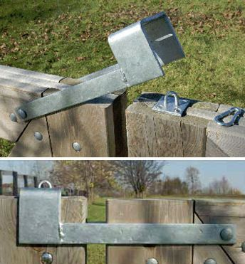 Throw Over Gate Loop Latch Two Gates That Meet In The