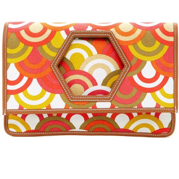 Jonathan Adler Heiress Foldover Clutch ($53) ❤ liked on Polyvore