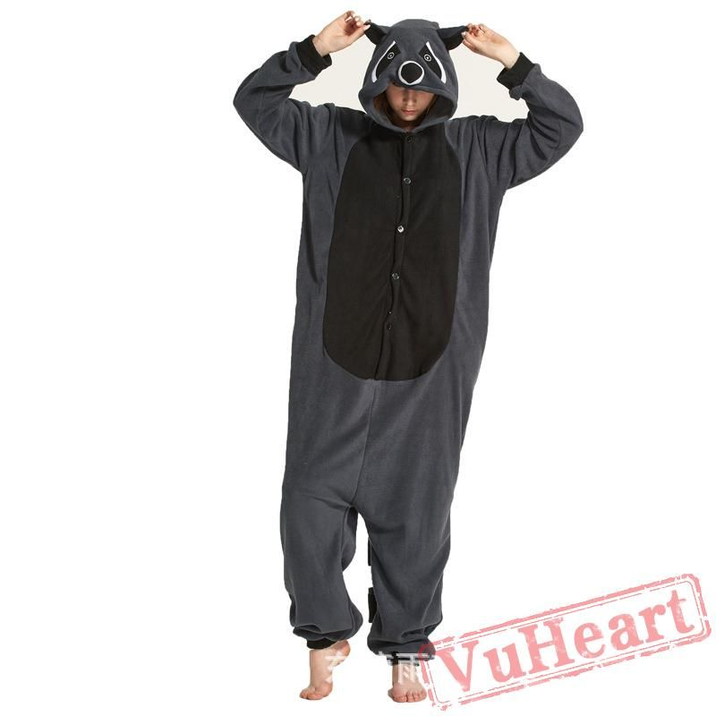 Pyjama Animal Adultes Kigurumi Cosplay Raton Laveur Animal pour Unisexe