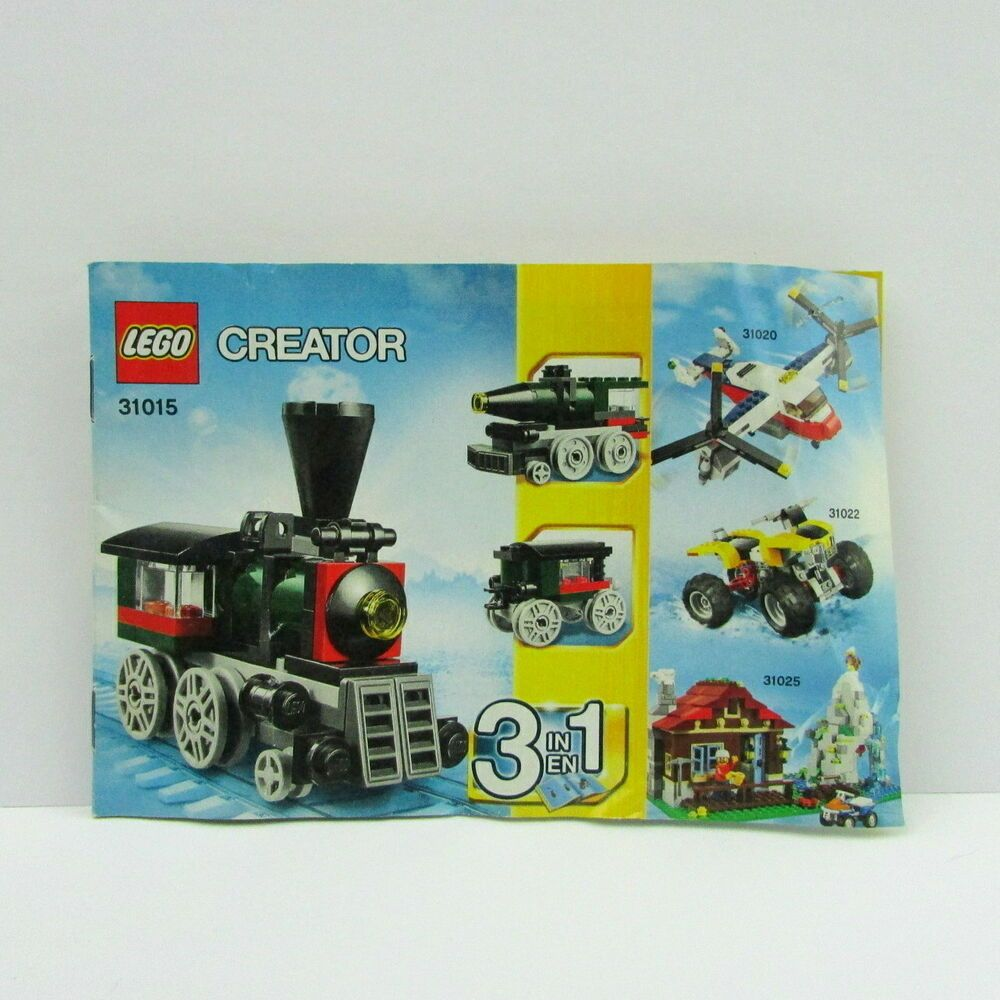 Lego Creator Emerald Express 31015 Instruction Manual Booklet Only