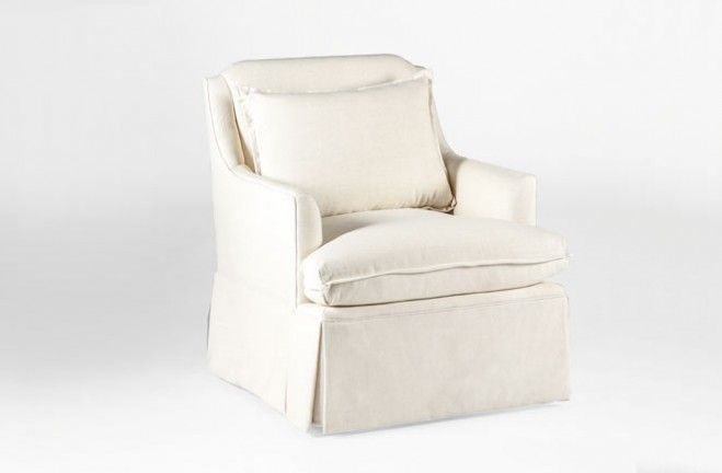 From The Gabby Tailored Collection Of Custom Upholstery, The Fully Skirted  Bridgette Swivel Chair Features A Flange Welt For A Softer Look.