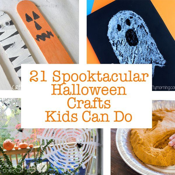 21 Spooktacular Halloween Crafts Kids Can Do 21st, Craft and - halloween decorations for kids to make
