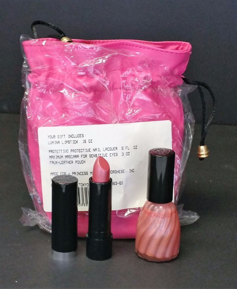 Princess Marcella Bourghese Gift Bag Twilight Mauve Frost Nail Polish Lipstick #PrincessMarcellaBourghese