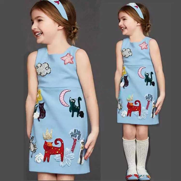 Click To Buy Girls Winter Dress Baby Girl Clothes Scrawl Pattern