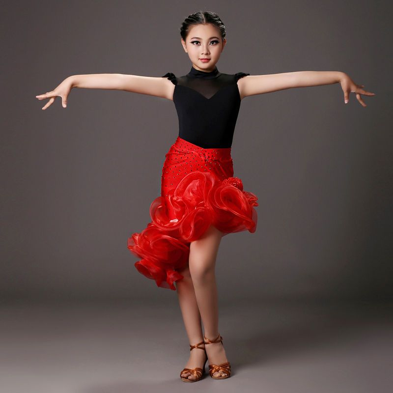 2016 Childrens Latin Salsa Ballroom Dance Dress Girls ...