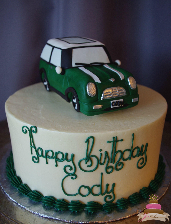(184) 3D Mini Cooper Birthday Cake