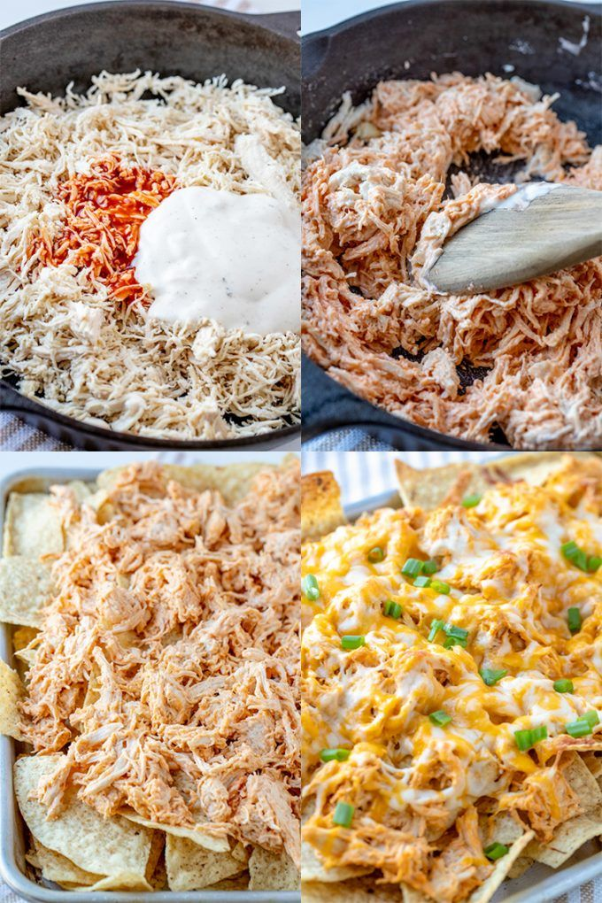 Buffalo Chicken Nachos #buffalochickennachos