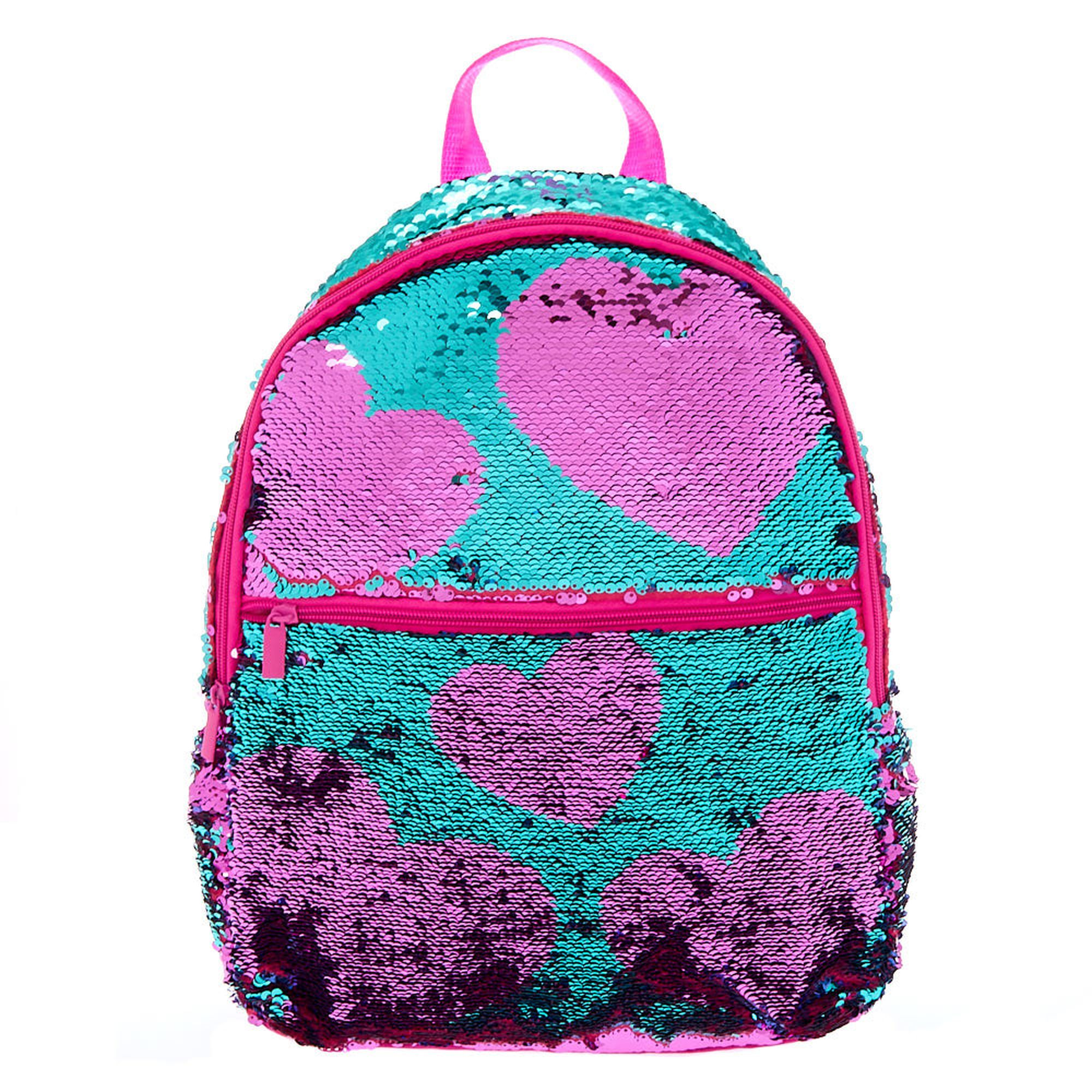8bf49d21ea Reversible Sequin Heart Backpack - Fuchsia