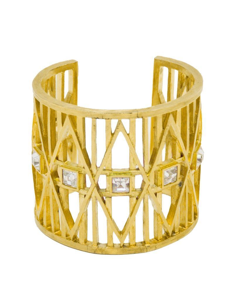 """Gold Cage Cuff  """"ONHOLD"""""""