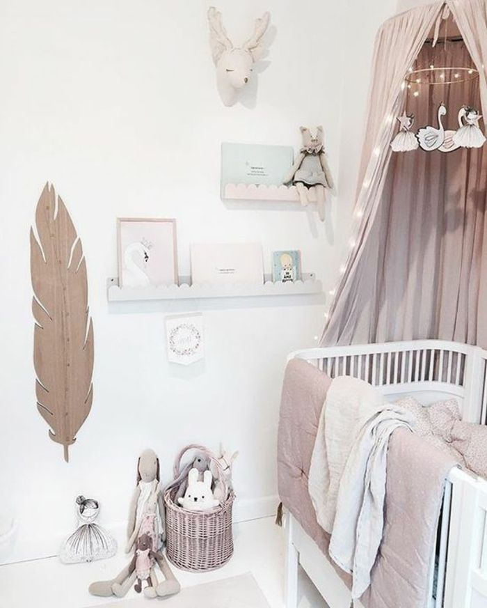 37 genial deko ideen babyzimmer m dchen deko in 2019. Black Bedroom Furniture Sets. Home Design Ideas