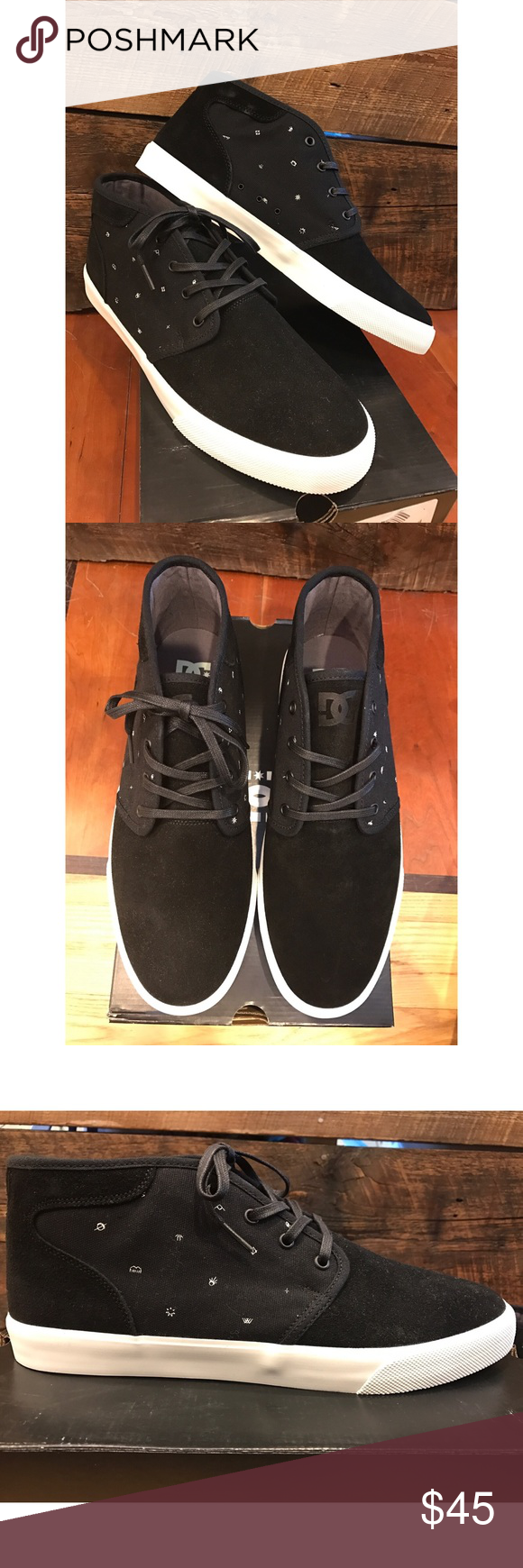 Dc Shoes Leather Upper Rubber Sole
