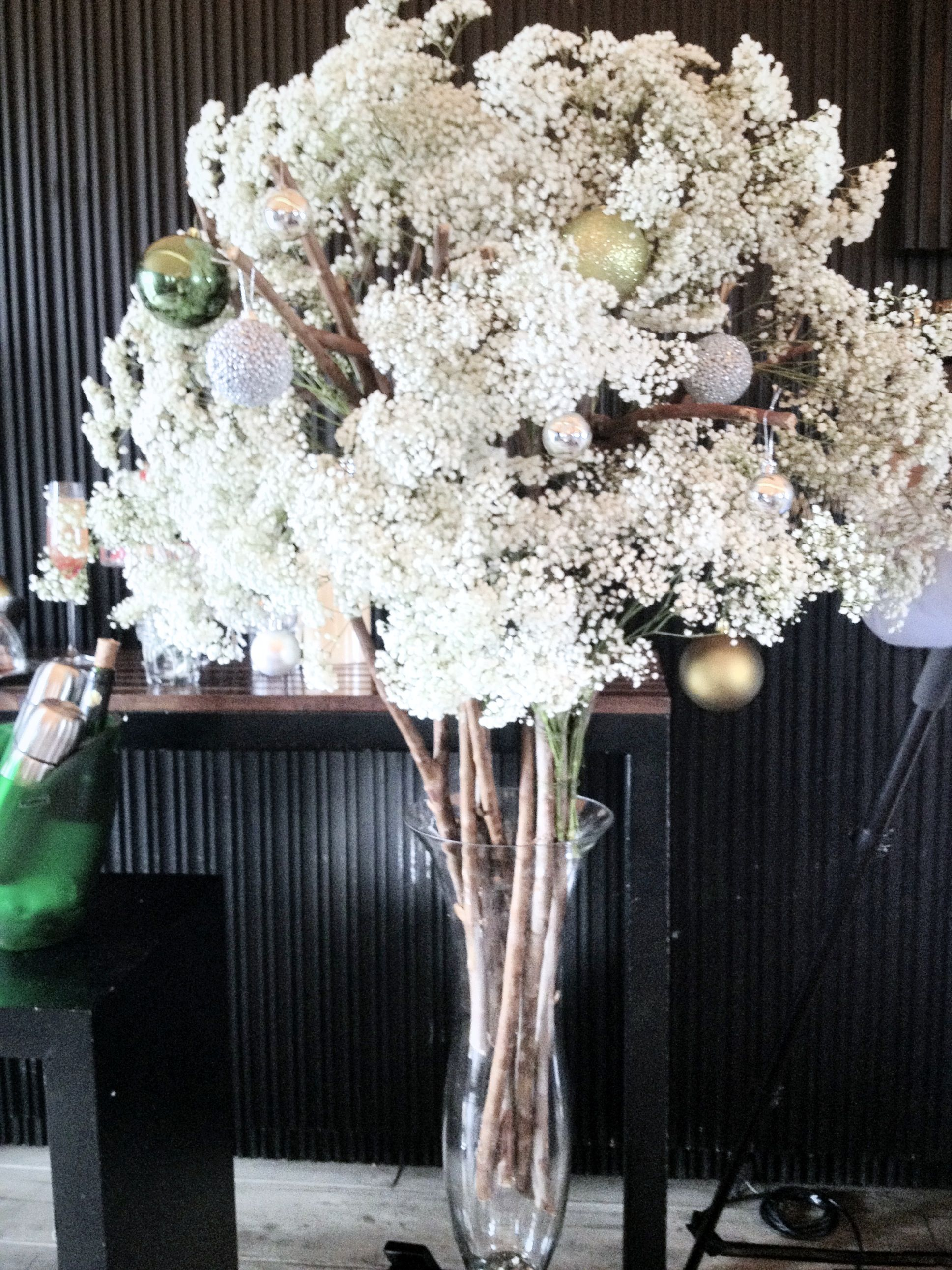 Fluffy Christmas Tree From Babys Breath