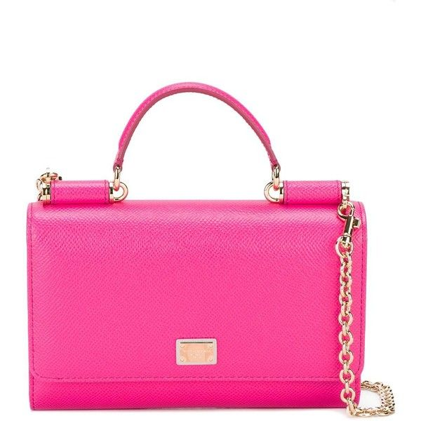 Dolce & Gabbana mini Von wallet crossbody bag (5.075 RON) ❤ liked on Polyvore featuring bags, handbags, shoulder bags, pink leather handbags, pink shoulder bag, mini shoulder bag, leather handbags and crossbody purses
