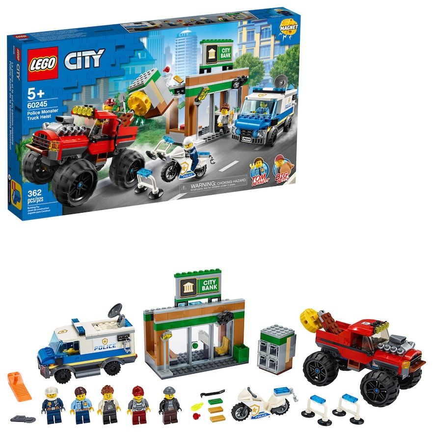 Lego City Police Monster Truck Heist 60245 Building Kit In 2020 Lego City Lego City Police Monster Truck Toys