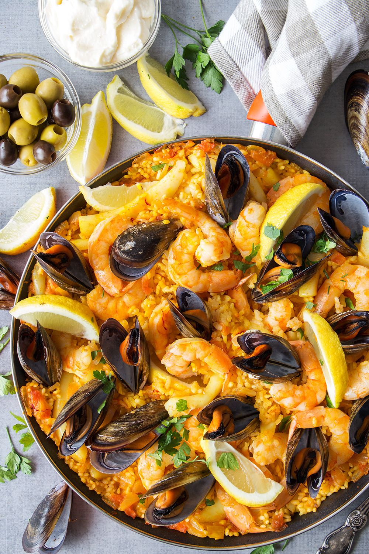Spanish Seafood Paella #seafooddishes