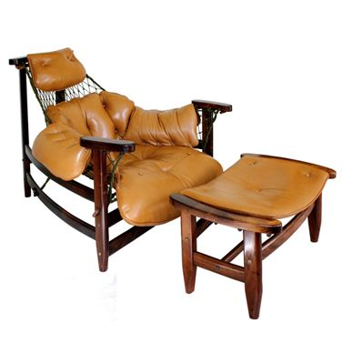 "Jean Gillon - ""Jangada"" chair and ottoman - 60's"