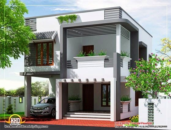 33 beautiful 2 storey house photos small house designs for Simple modern two story house design