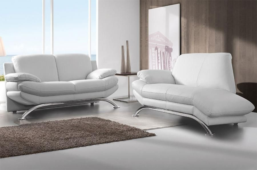 DeltaSalotti Contemporary Armonia 2 Seater Chaise Longue and 3 Seater Sofa Set : 3 seater chaise lounge - Sectionals, Sofas & Couches
