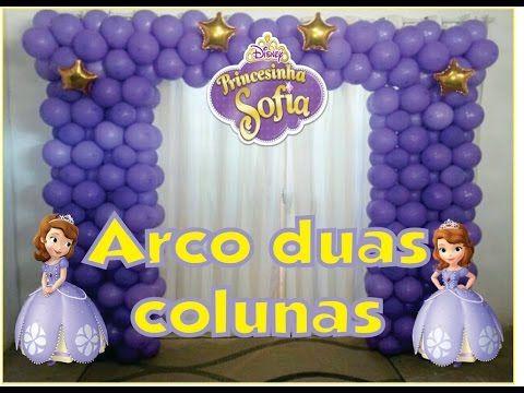 Como Fazer Arco De Baloes Quadrado Princesa Sofia Youtube
