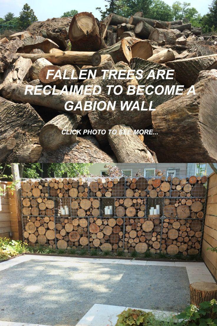 Gabion wall created for a brownstone garden in Brooklyn, New York ...