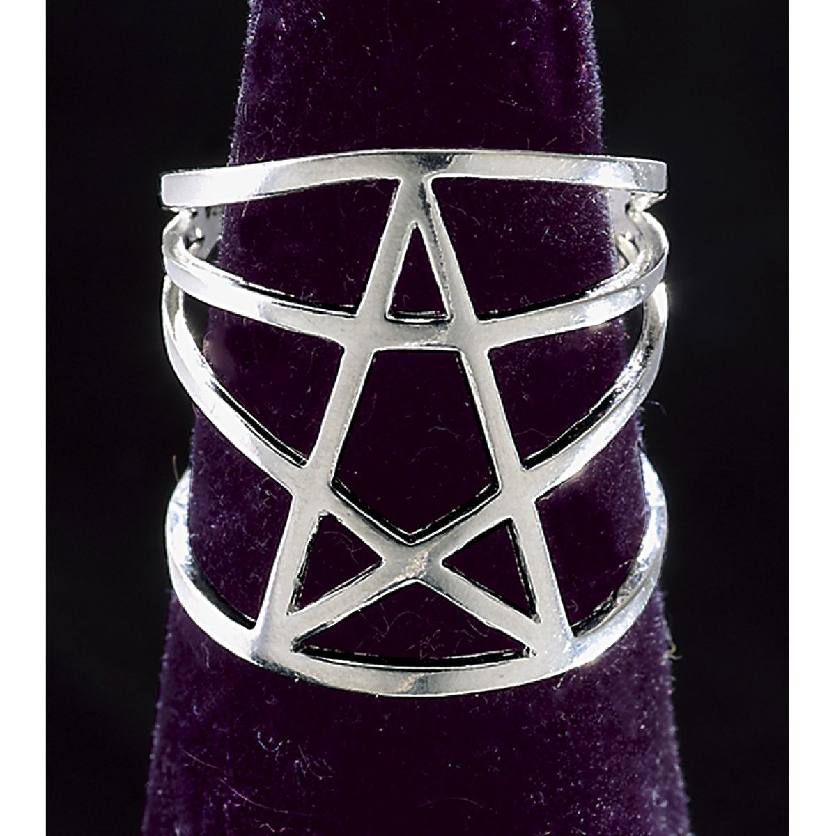 Sterling Pentagram Ring | Smoked Glass Goggles