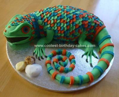 Homemade Lizard Birthday Cake