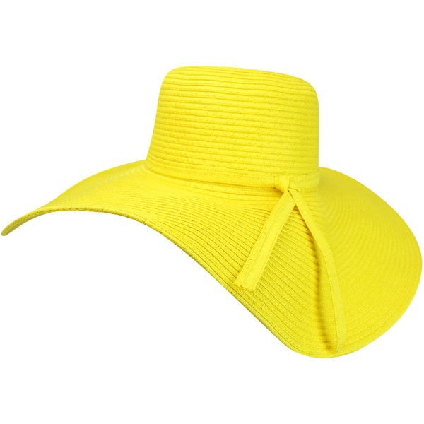 2673314b Yellow Crushable Wide Brimmed Floppy Hat (€24) ❤ liked on Polyvore  featuring accessories, hats, floppy, yellow, wide brim sun hat, beach hat,  yellow hat, ...