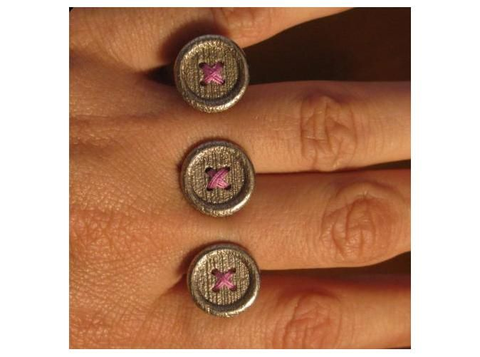 Button Up Ring by Designerica