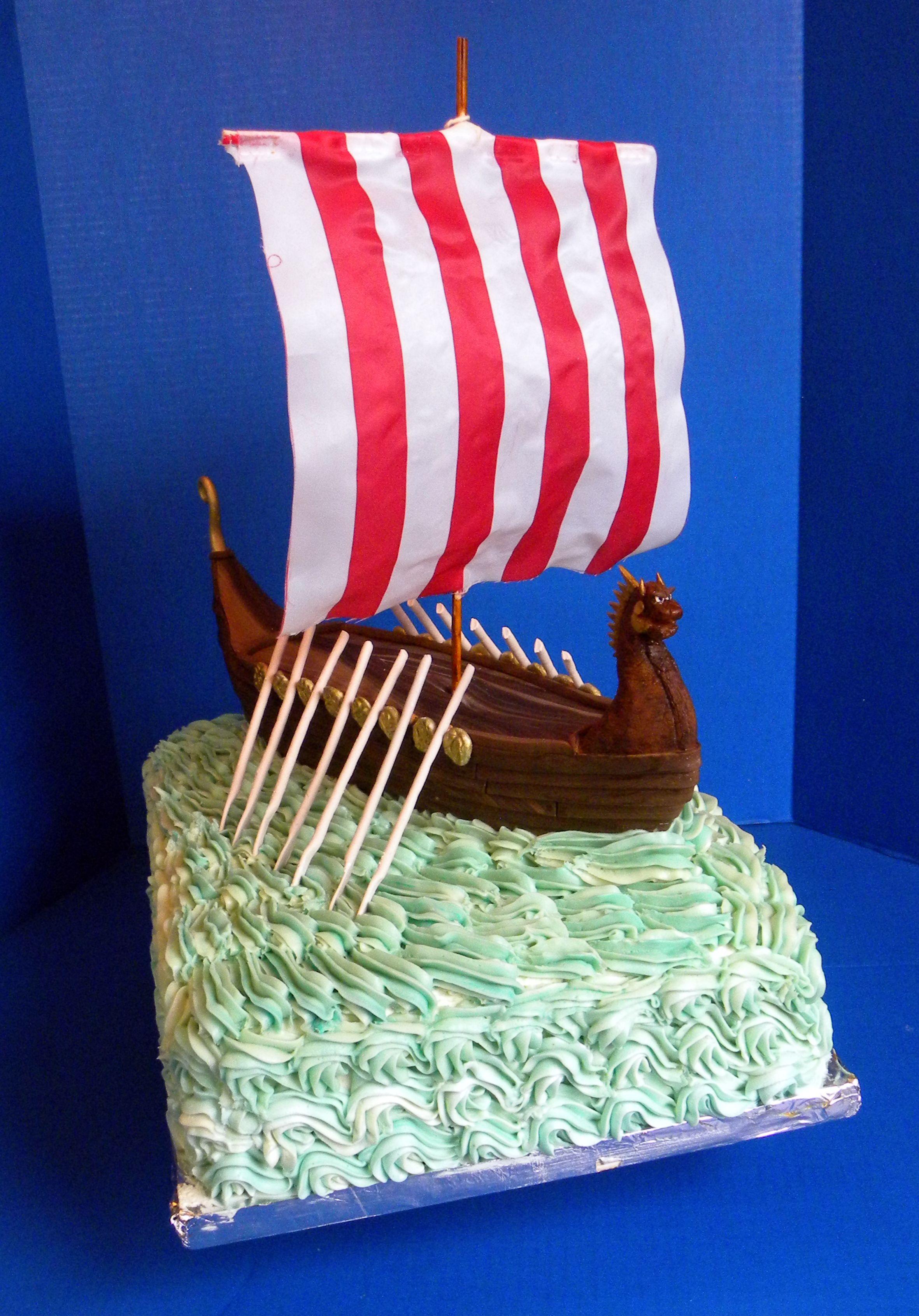 Viking Ship Cake Viking Party Viking Birthday Viking Baby