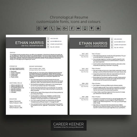 Stand out with this professional chronological resume template for