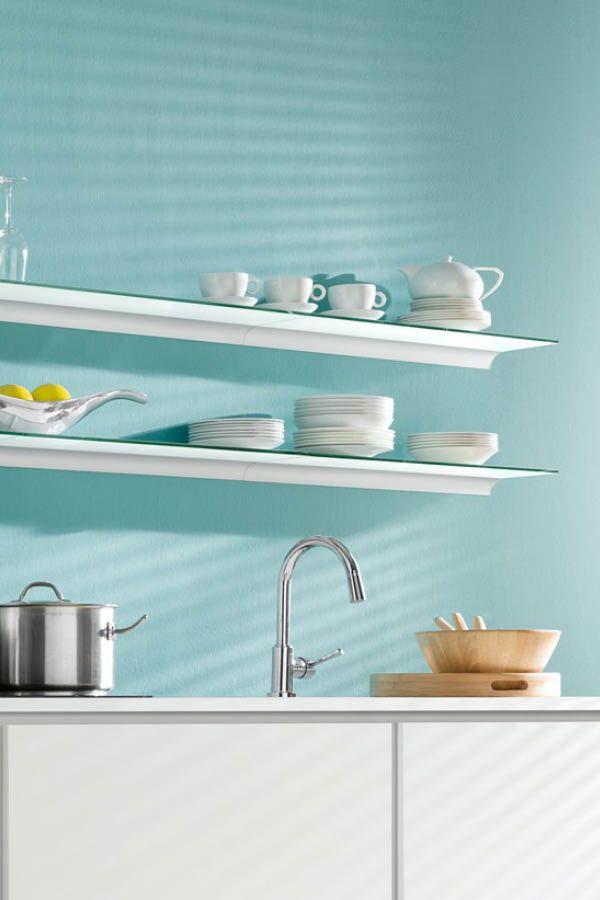 Wandregal Küche - Glasregale, Wandboards, Regalwürfel Küchen - wandregal für küche